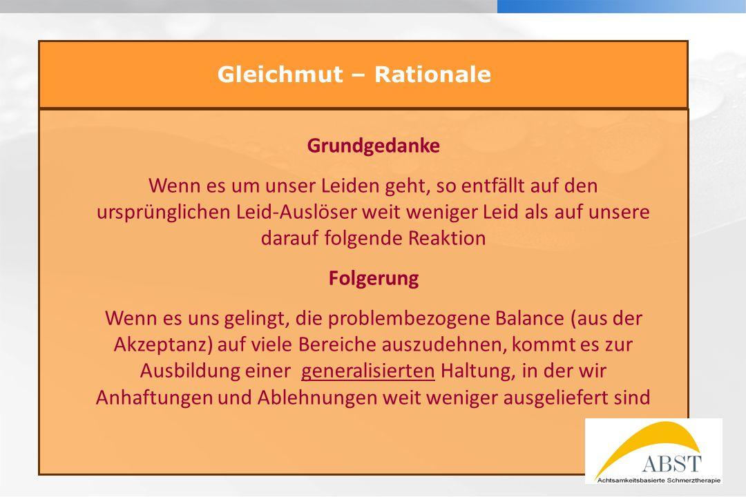 Gleichmut – Rationale Grundgedanke.