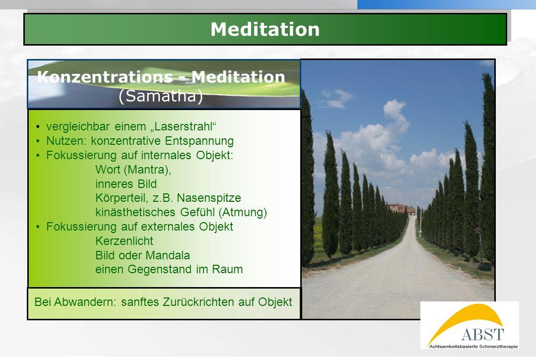 Konzentrations - Meditation