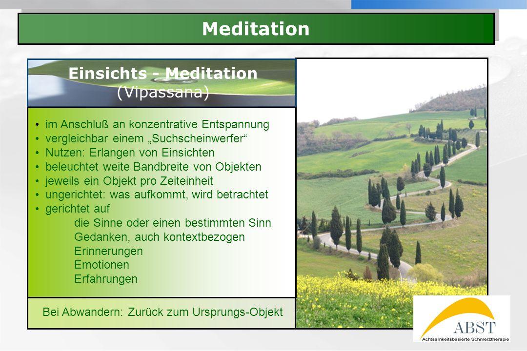 Einsichts - Meditation