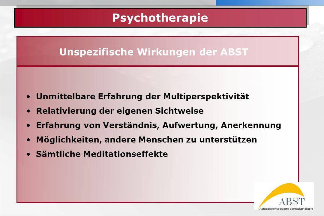 Unspezifische Wirkungen der ABST