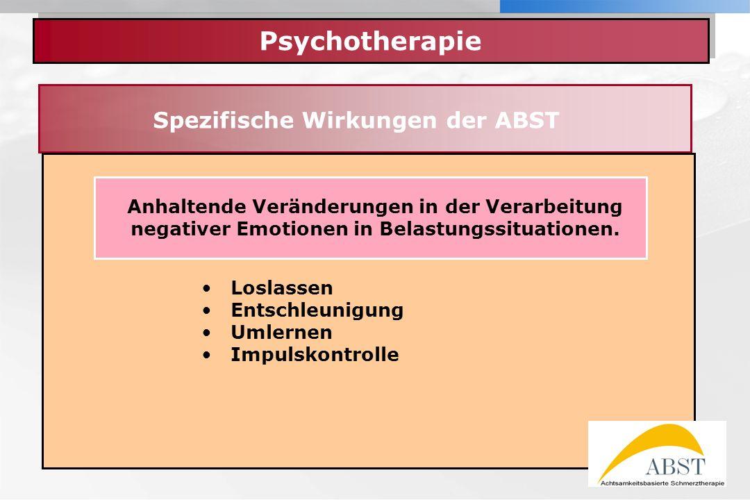 Spezifische Wirkungen der ABST