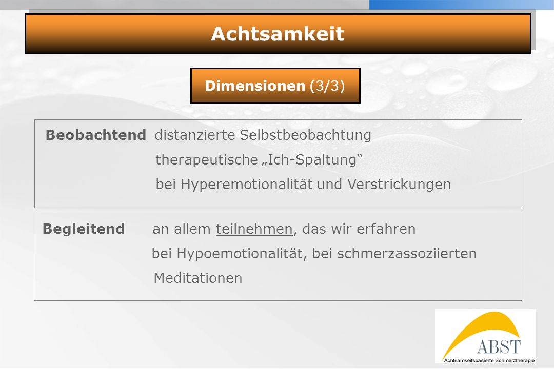 Achtsamkeit Meditation Dimensionen (3/3)