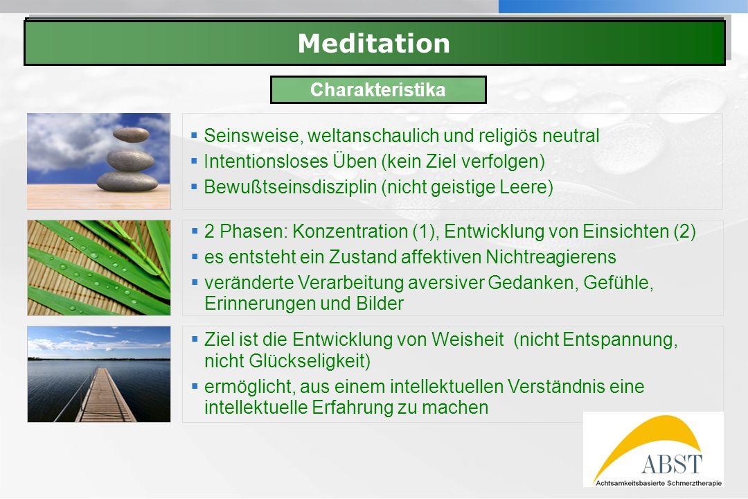 Meditation Meditation Charakteristika