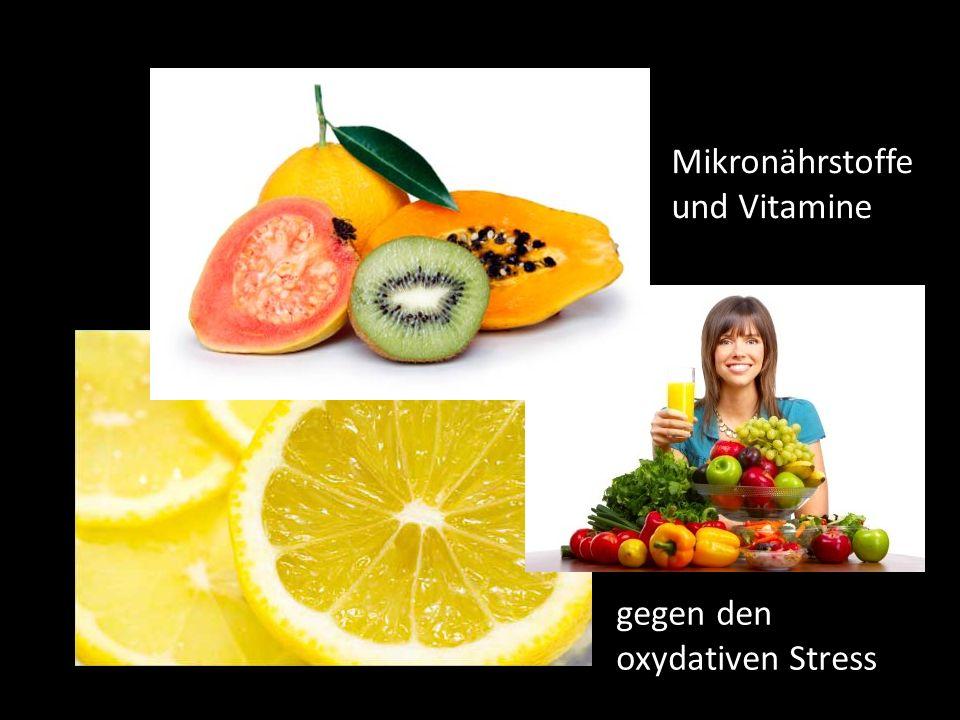 Mikronährstoffe und Vitamine gegen den oxydativen Stress