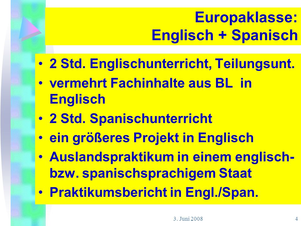Europaklasse: Englisch + Spanisch