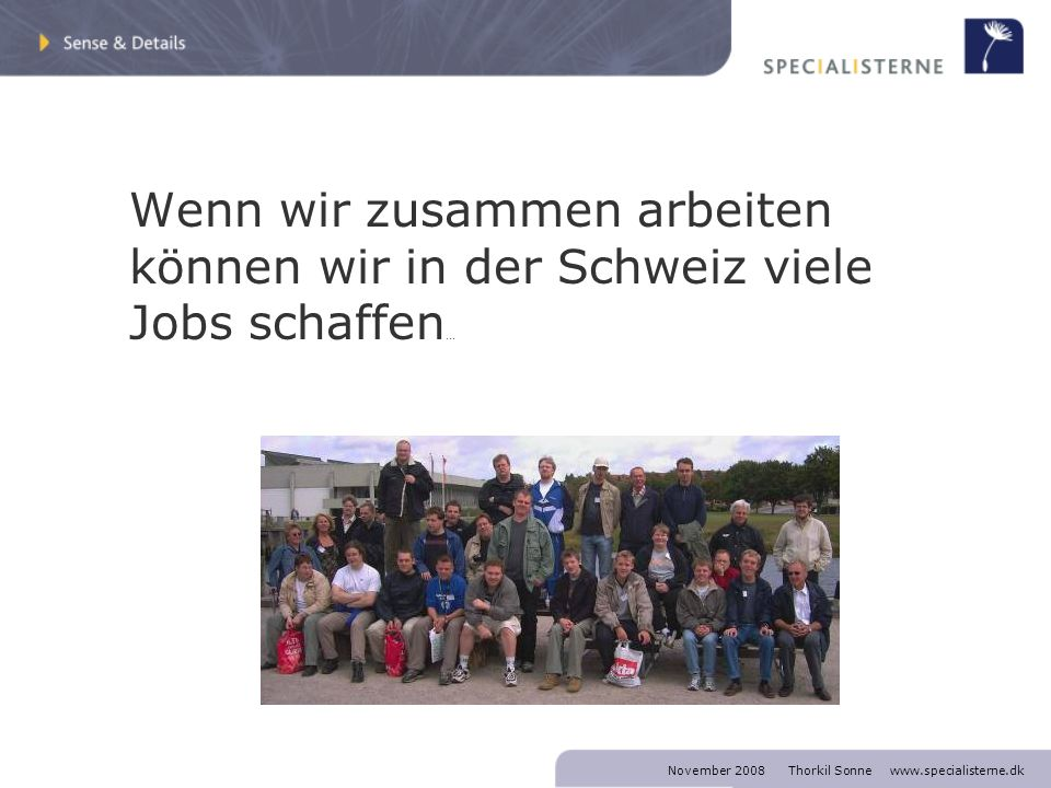 Vielen Dank Thorkil Sonne SPECIALISTERNE mobile +45 2020 0008