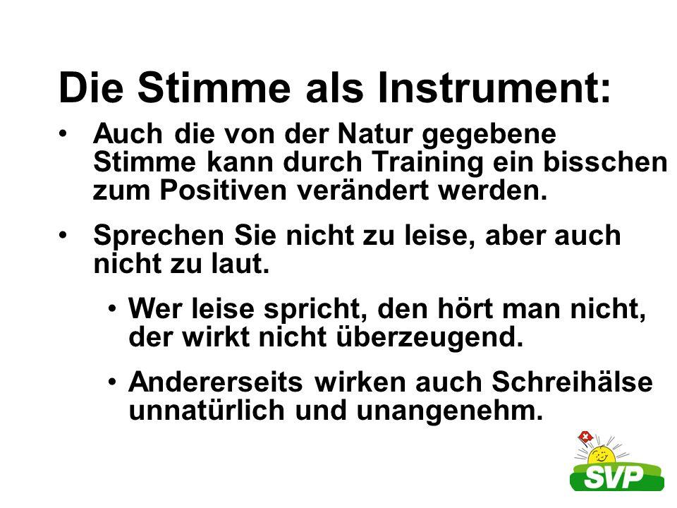 Die Stimme als Instrument: