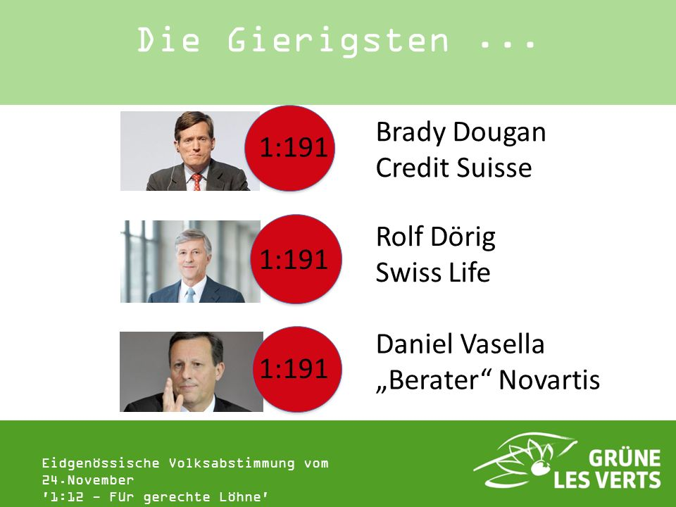 Die Gierigsten ... Brady Dougan 1:191 Credit Suisse Rolf Dörig