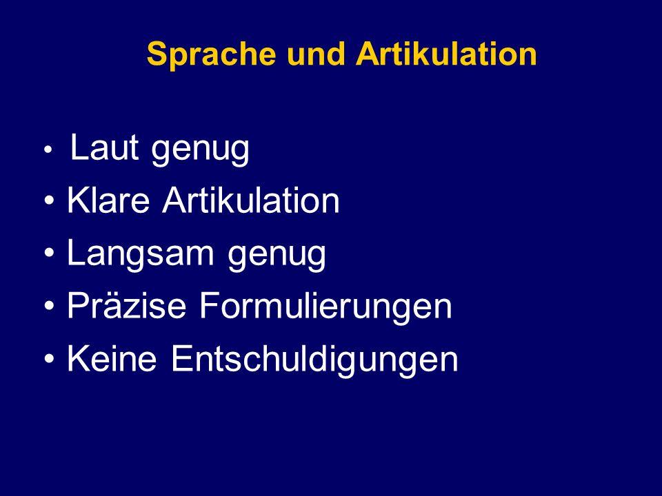 Sprache und Artikulation