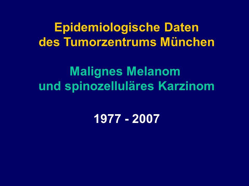 Epidemiologische Daten des Tumorzentrums München