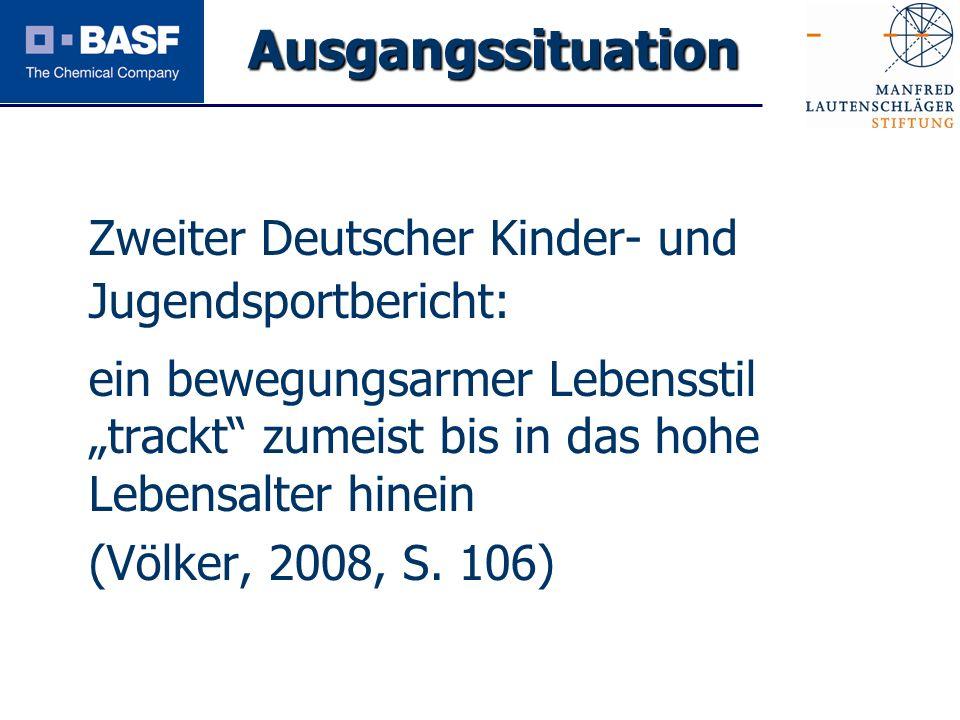 Ausgangssituation Zweiter Deutscher Kinder- und Jugendsportbericht: