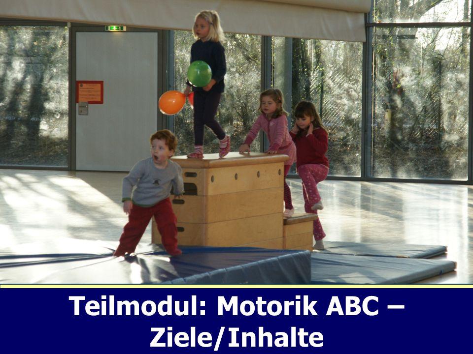 Teilmodul: Motorik ABC – Ziele/Inhalte