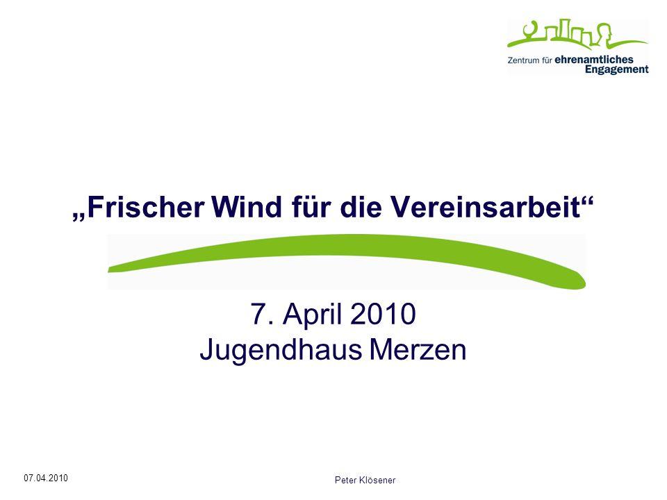 """""""Frischer Wind für die Vereinsarbeit"""