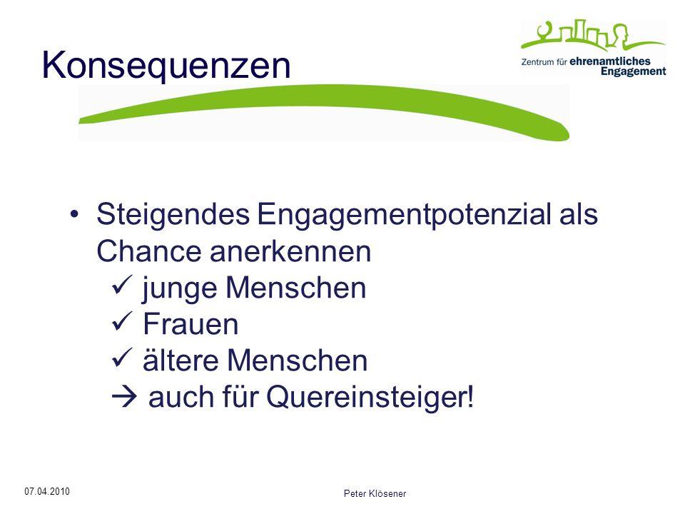Konsequenzen Steigendes Engagementpotenzial als Chance anerkennen
