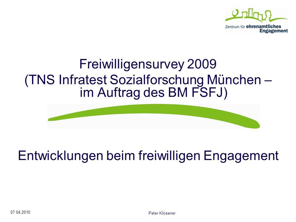 (TNS Infratest Sozialforschung München – im Auftrag des BM FSFJ)