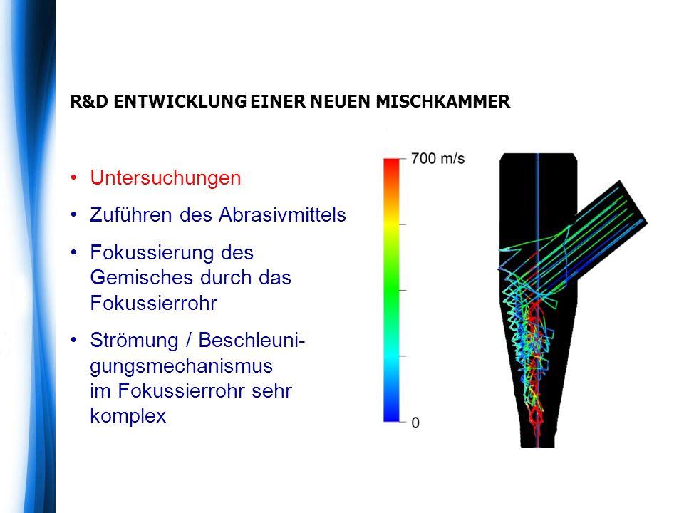 R&D ENTWICKLUNG EINER NEUEN MISCHKAMMER