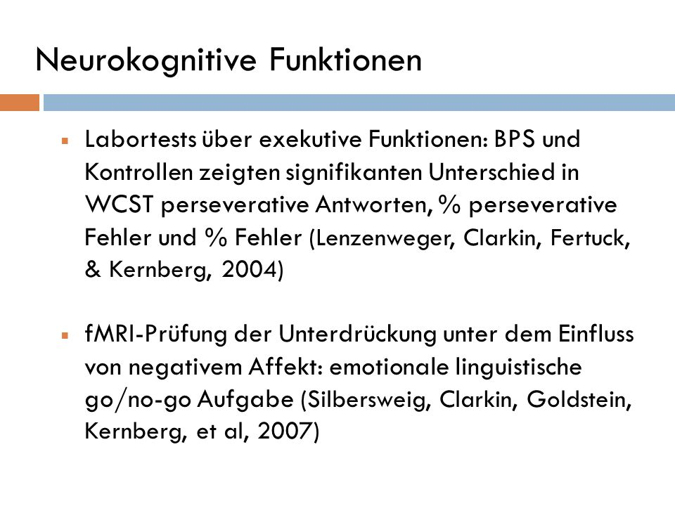 Neurokognitive Funktionen