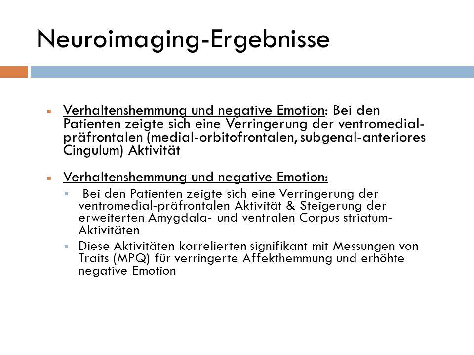 Neuroimaging-Ergebnisse