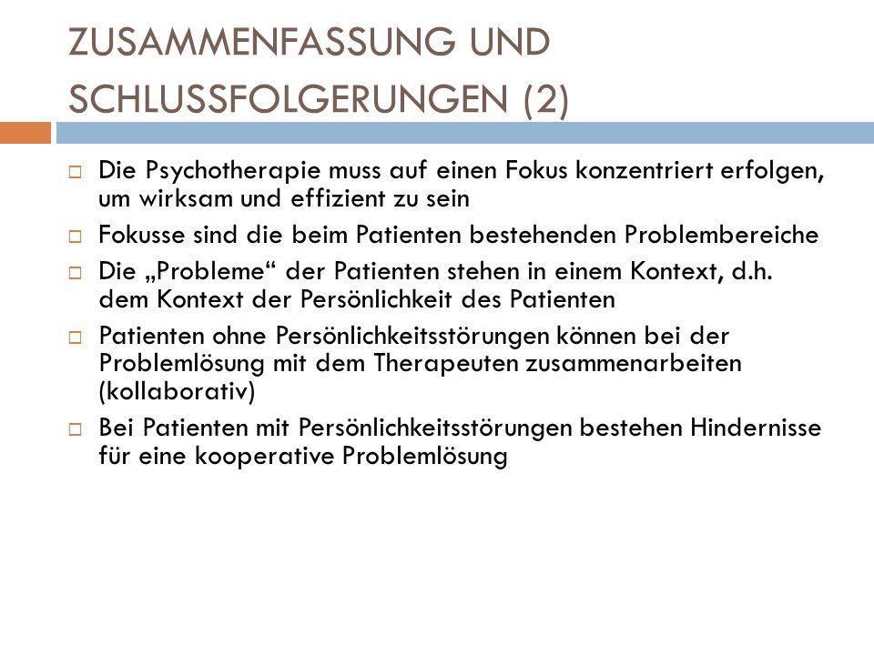 ZUSAMMENFASSUNG UND SCHLUSSFOLGERUNGEN (2)