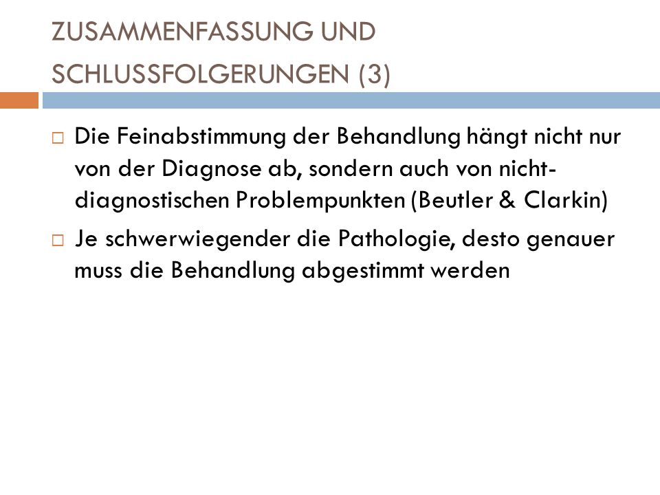 ZUSAMMENFASSUNG UND SCHLUSSFOLGERUNGEN (3)