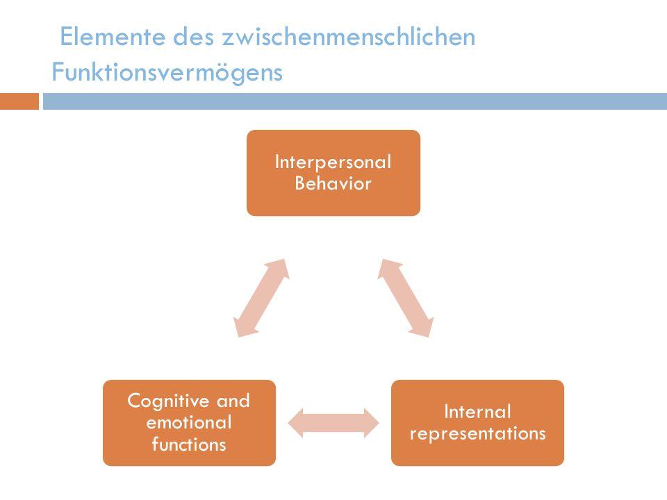 Elemente des zwischenmenschlichen Funktionsvermögens
