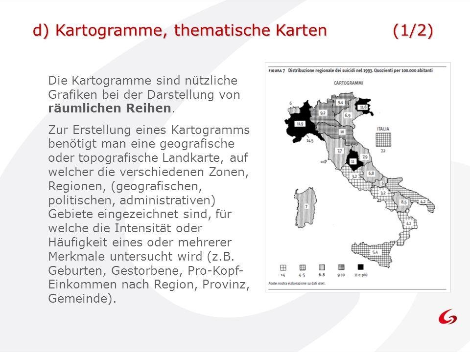 d) Kartogramme, thematische Karten (1/2)