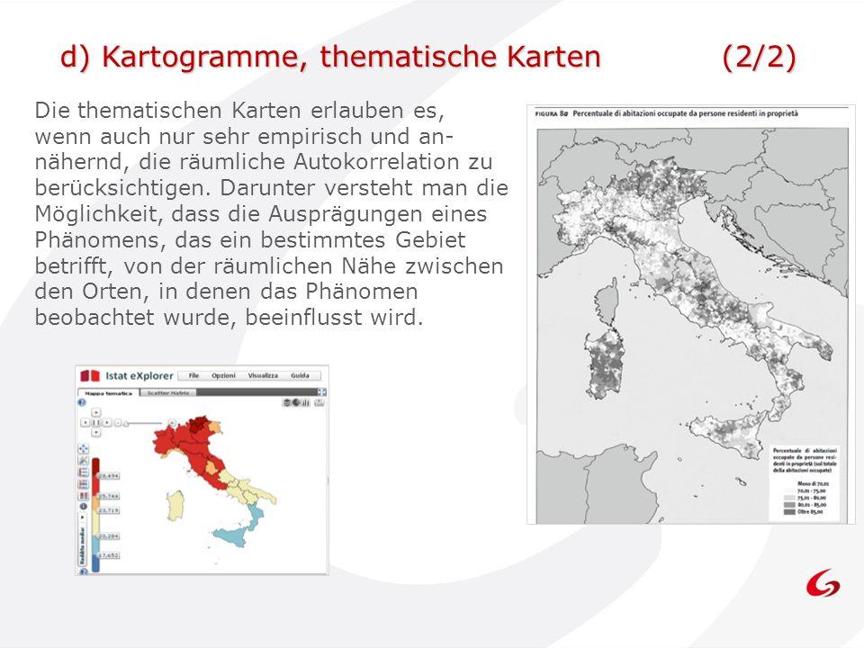 d) Kartogramme, thematische Karten (2/2)
