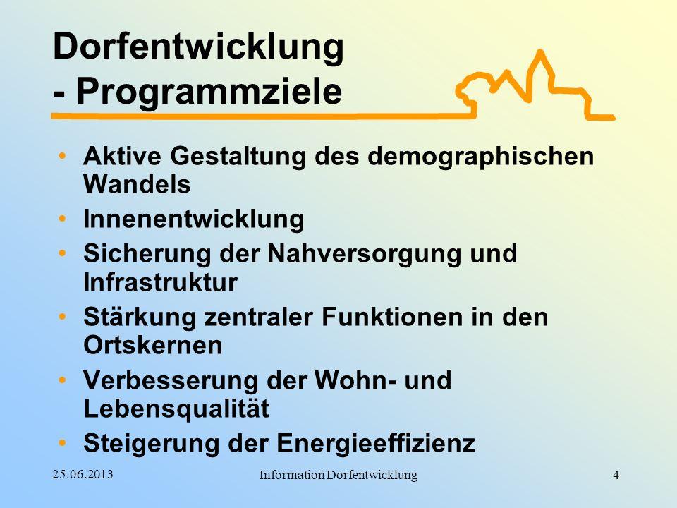 Dorfentwicklung - Programmziele