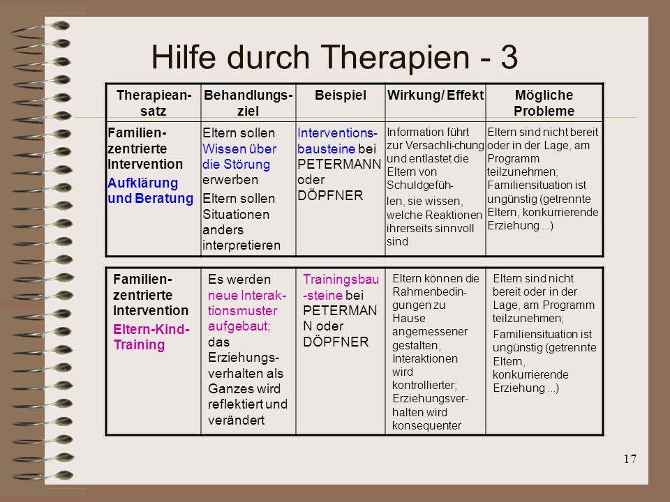 Hilfe durch Therapien - 3