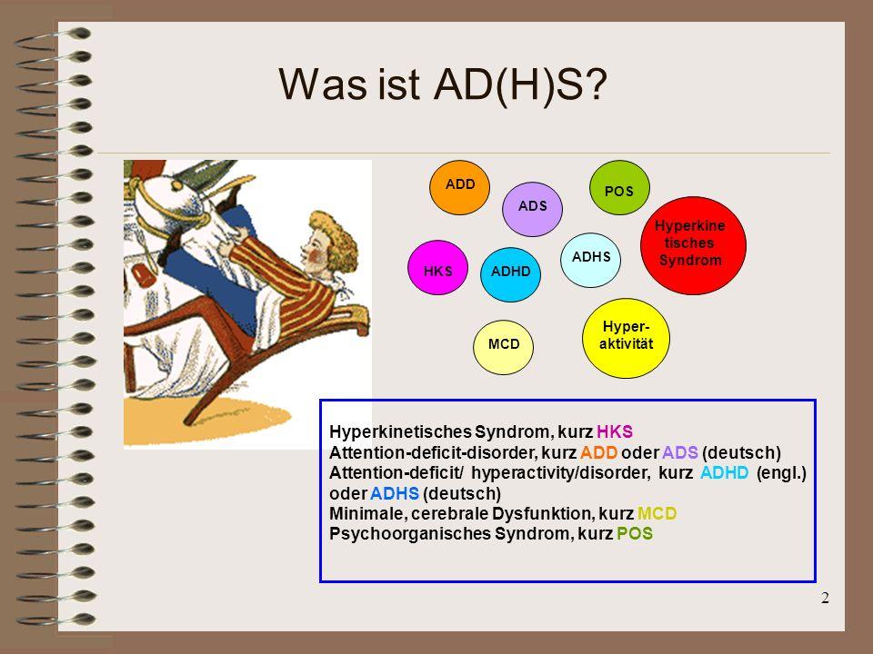 Was ist AD(H)S Hyperkinetisches Syndrom, kurz HKS