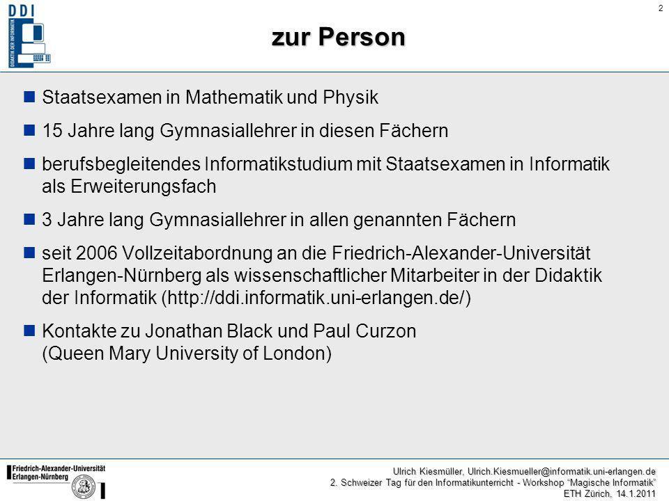 zur Person Staatsexamen in Mathematik und Physik