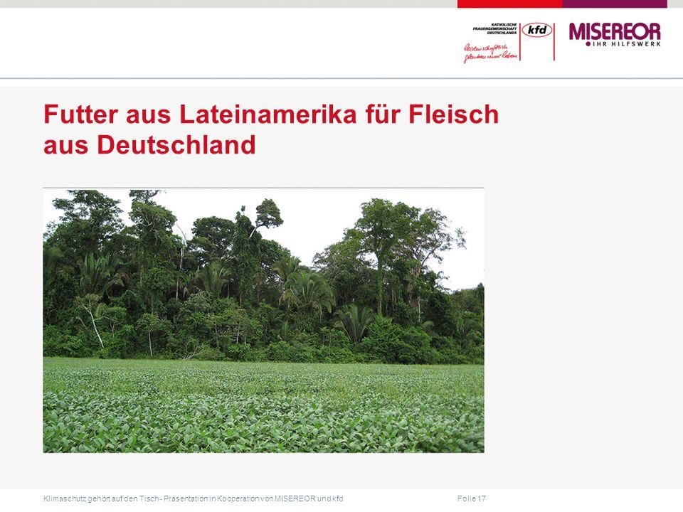 Futter aus Lateinamerika für Fleisch aus Deutschland