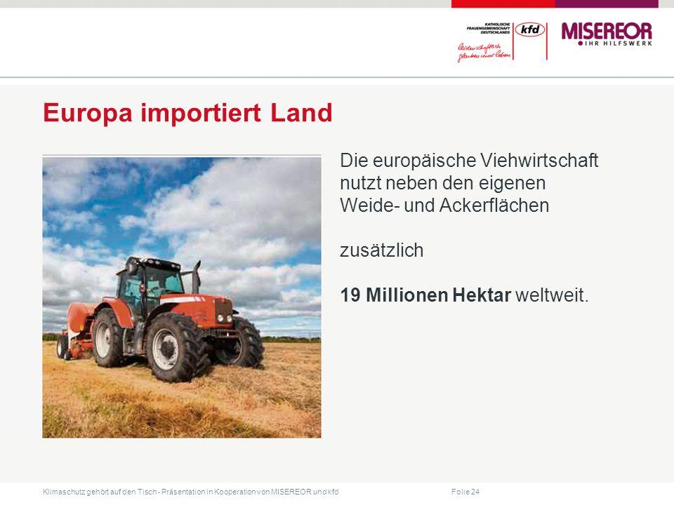 Europa importiert Land