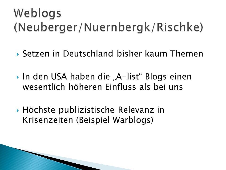 Weblogs (Neuberger/Nuernbergk/Rischke)