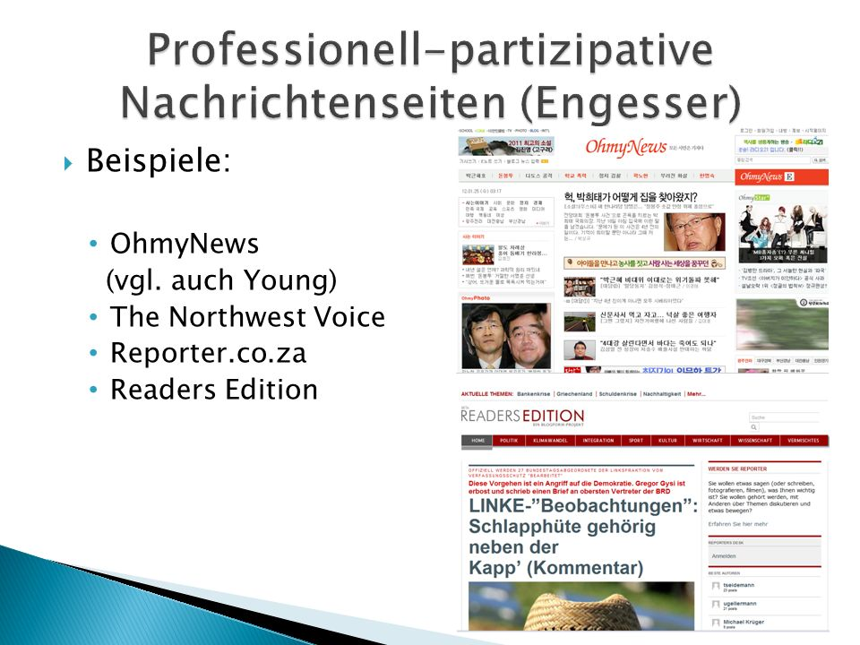 Professionell-partizipative Nachrichtenseiten (Engesser)
