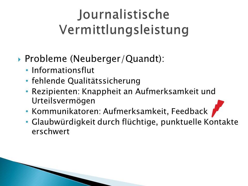 Journalistische Vermittlungsleistung