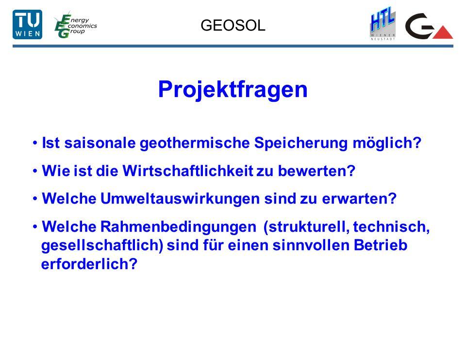Projektfragen GEOSOL Ist saisonale geothermische Speicherung möglich