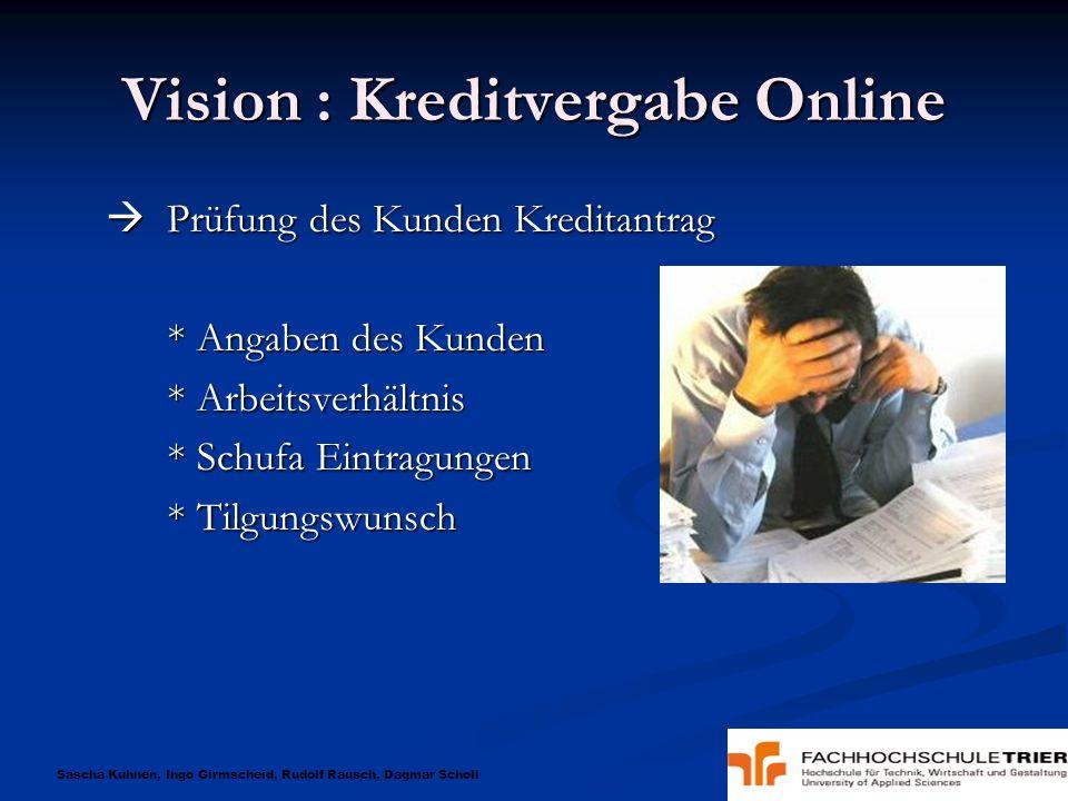 Vision : Kreditvergabe Online