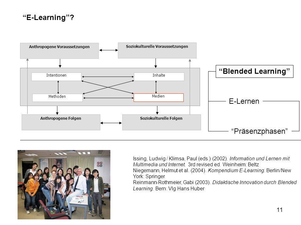 E-Learning Blended Learning E-Lernen Präsenzphasen