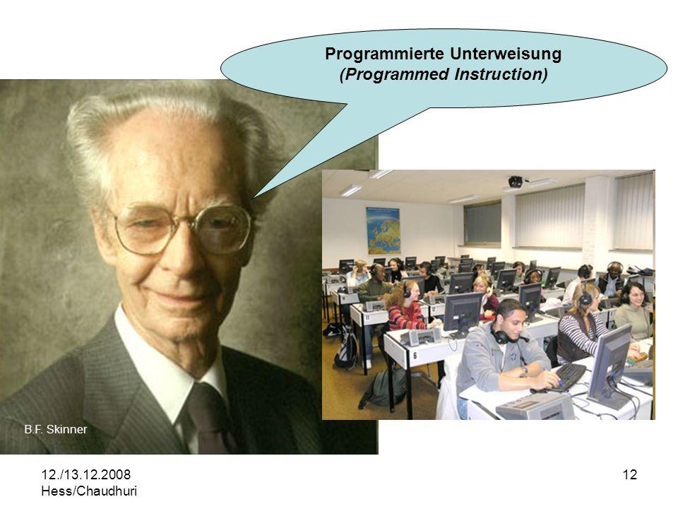 Programmierte Unterweisung (Programmed Instruction)
