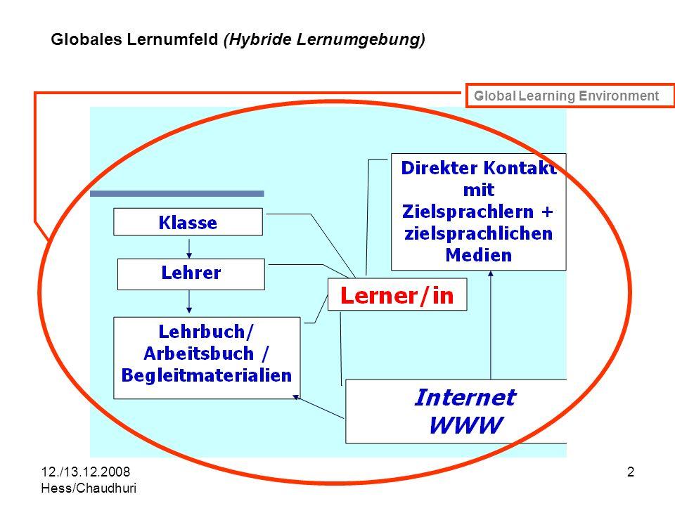 Globales Lernumfeld (Hybride Lernumgebung)