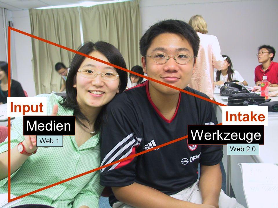 Input Intake Medien Werkzeuge Web 1 Web 2.0