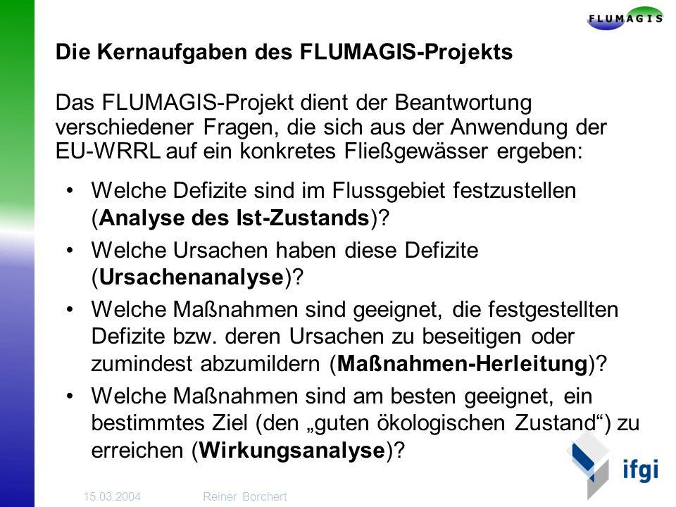 Die Kernaufgaben des FLUMAGIS-Projekts