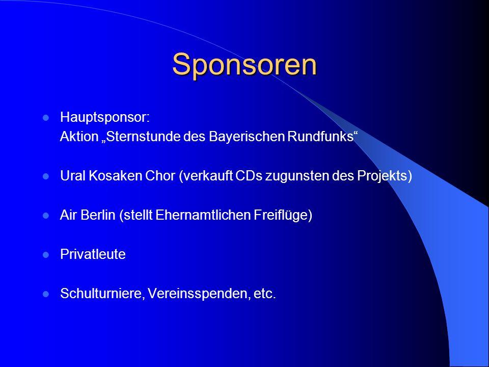 """Sponsoren Hauptsponsor: Aktion """"Sternstunde des Bayerischen Rundfunks"""
