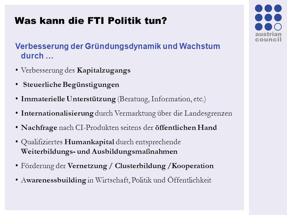 Was kann die FTI Politik tun