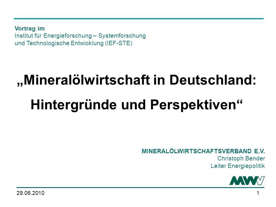 """""""Mineralölwirtschaft in Deutschland: Hintergründe und Perspektiven"""