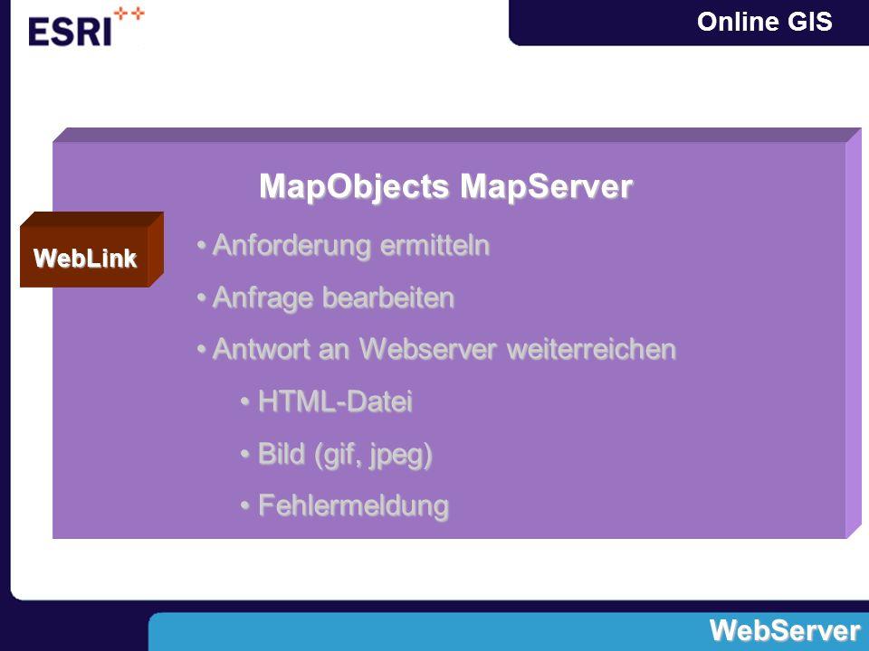 MapObjects MapServer Anforderung ermitteln Anfrage bearbeiten