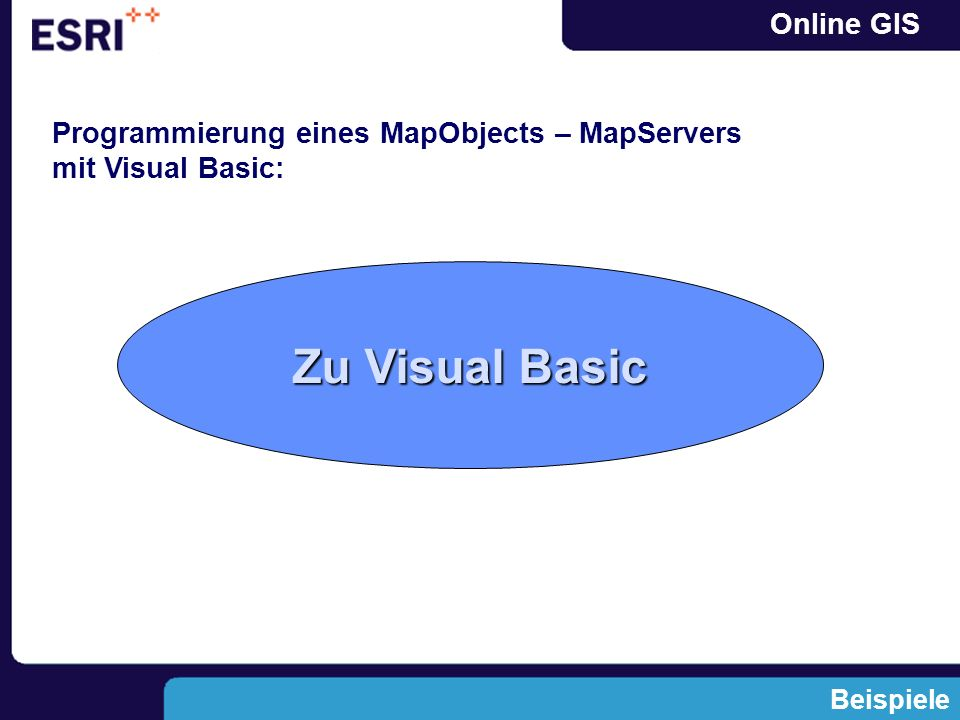 Programmierung eines MapObjects – MapServers mit Visual Basic: