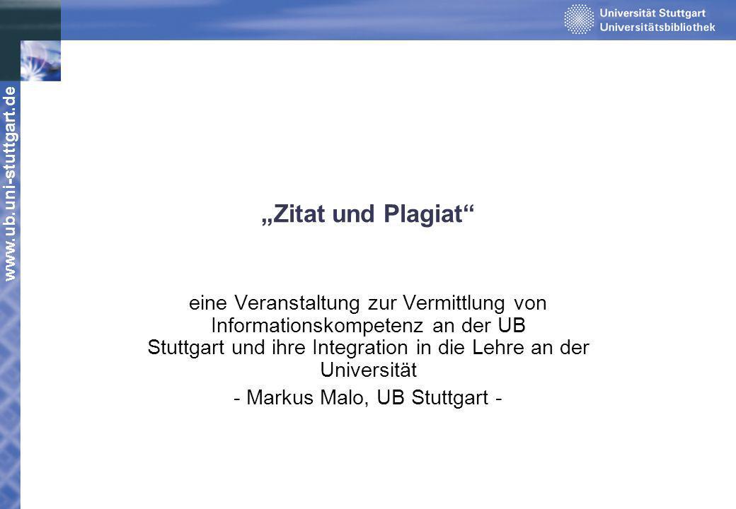 - Markus Malo, UB Stuttgart -