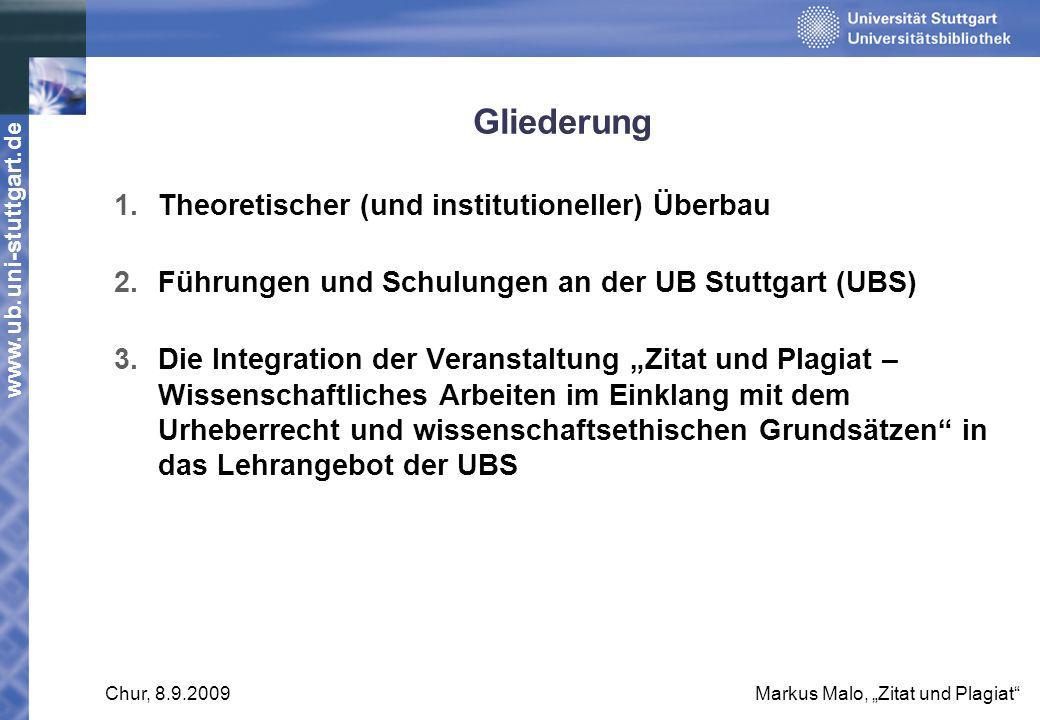 Gliederung Theoretischer (und institutioneller) Überbau